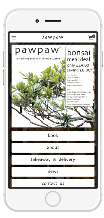 fresh chinese food for delivery or takeaway in our new app
