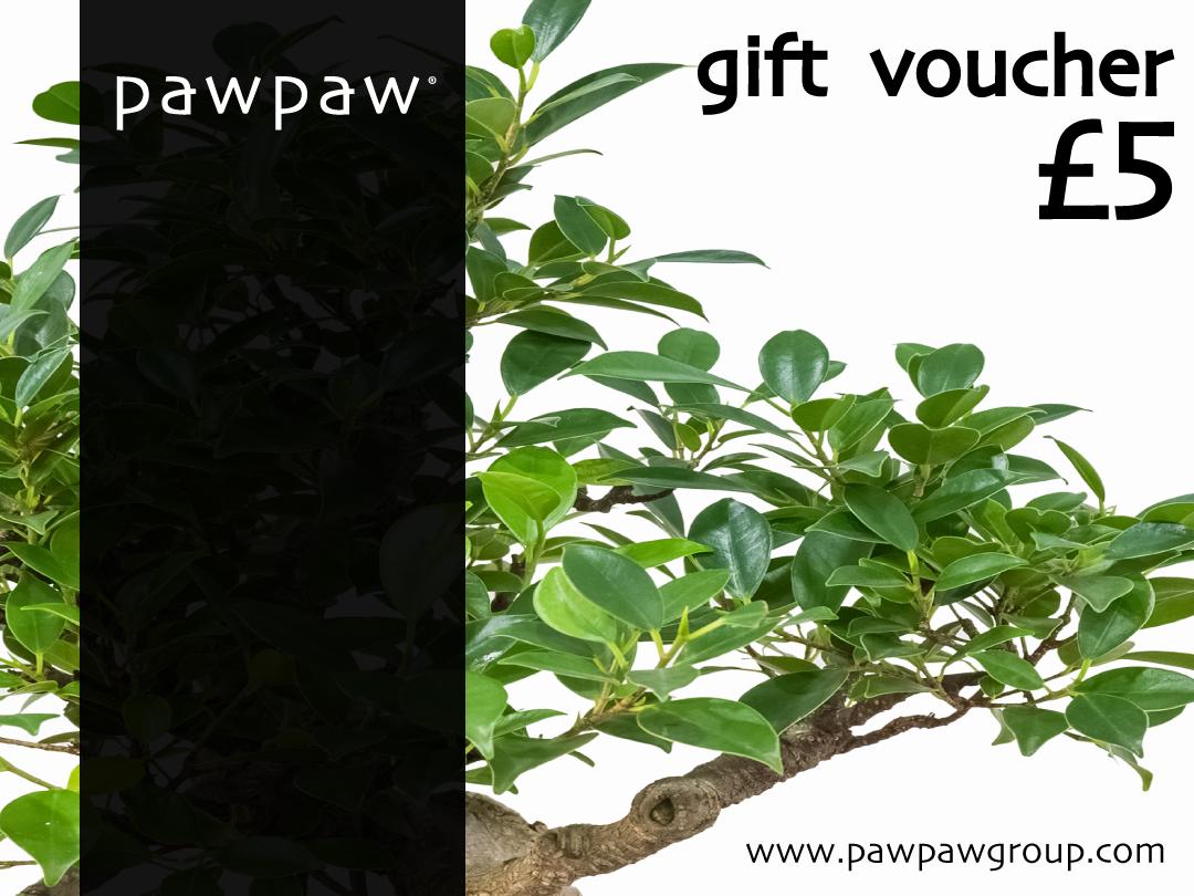 pawpaw gift vouchers