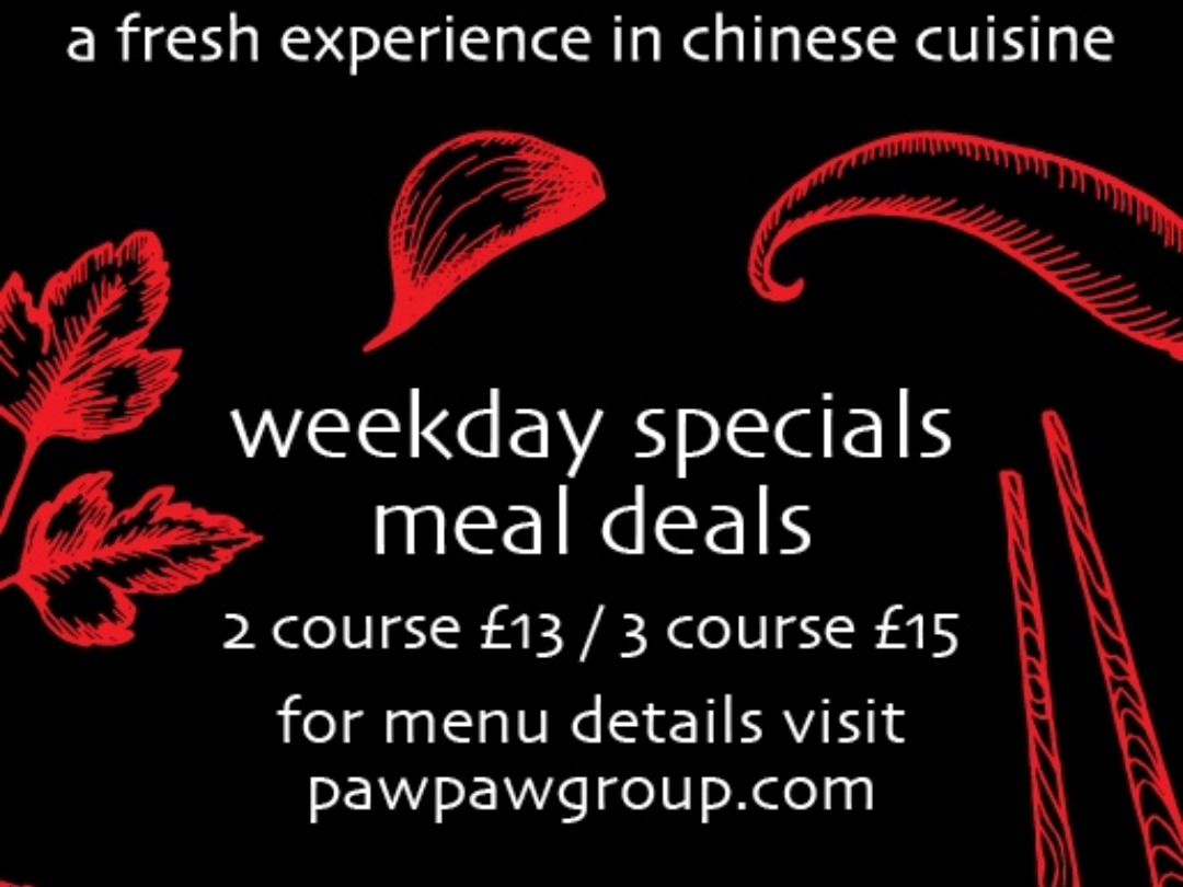 weekday special dine in offer